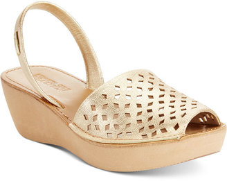 Kenneth Cole Women's Reaction Fine Glass 2 Platform Wedge Sandals $49 thestylecure.com