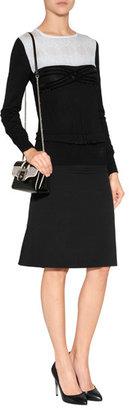 Alberta Ferretti Wool Pullover in Black/White