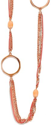 The Limited Painted Chains & Hoops Long Necklace