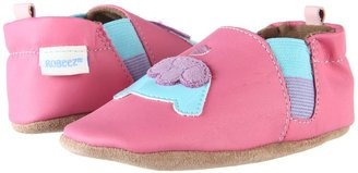 Robeez Kissing Turtles Soft Soles (Infant/Toddler) (Pink) - Footwear