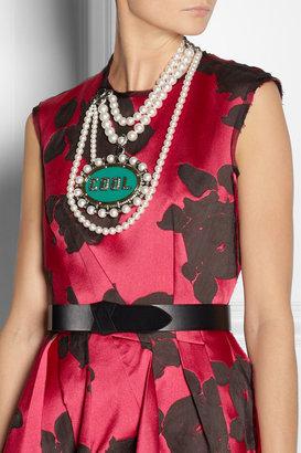 Lanvin Gloria resin, Swarovski Pearl and crystal necklace
