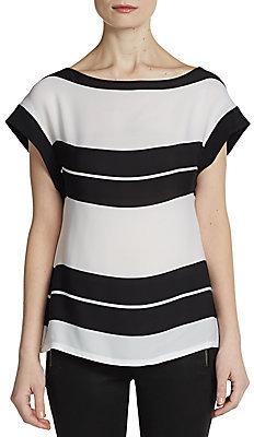 A.L.C. Chavelli Striped Silk Top
