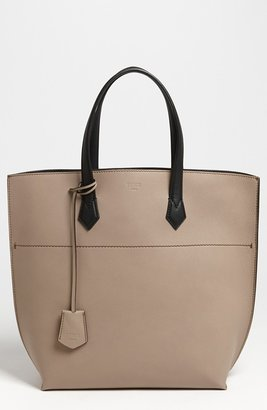 Fendi 'All In' Leather Shopper Dove/ Black