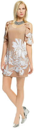 Tracy Reese Angelic Tigerlily Beaded Shift