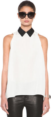 Band Of Outsiders Dot Jacquard Blouse in Snow White