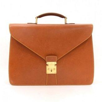 Louis Vuitton excellent (EX Brown Nomade Leather Atacama PM Briefcase Bag