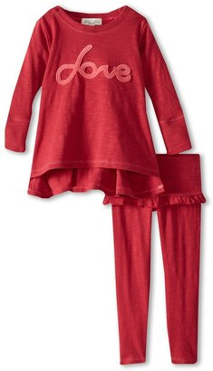 Luna Luna Copenhagen Super Soft Slub Jersey Love Marika Set (Infant/Toddler/Little Kids) (Pomegranate) - Apparel