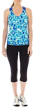 JCPenney Xersion Mesh-Back Bra Tank Top or Shirred Capris