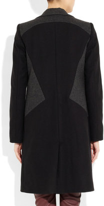 Faith Connexion Contrast-paneled wool-blend coat