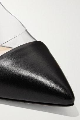 Gianvito Rossi Plexi 100 Leather And Pvc Pumps - Black