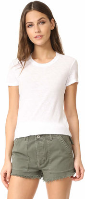 James Perse Sheer Slub Crew Neck Tee $75 thestylecure.com