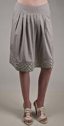 Nougat Skirt with Raffia in Pumice