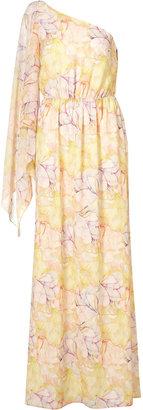 Topshop Flower Print Maxi Dress