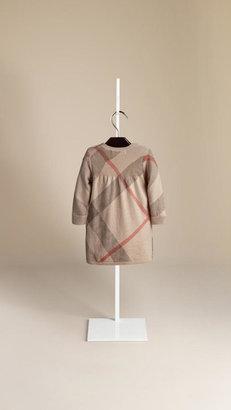Burberry Check Cashmere Cotton Dress