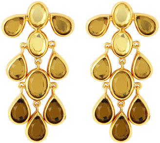 Isharya Glass Chandelier Earrings, Shaded Yellow