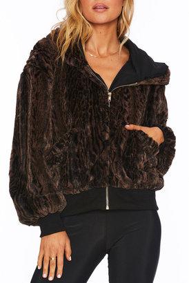 Beach Riot Fuzzy Faux-Fur Jacket