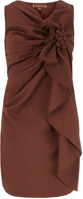 Dorothy Perkins Brown structured corsage dress