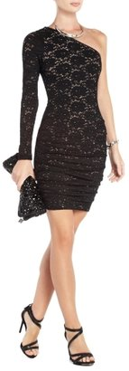 BCBGMAXAZRIA Steffe One-Shoulder Lace Cocktail Dress