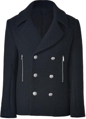 IRO Black Double-Breasted Wool-Blend Atom Jacket