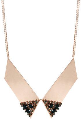 Asos Crystal Collar Tip Necklace