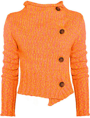Vivienne Westwood Drape neon knitted cardigan