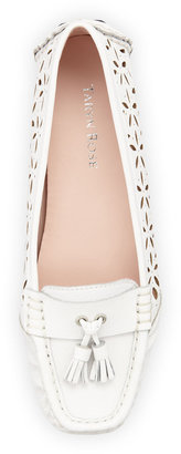Taryn Rose Carissa Perforated Moccasin, White