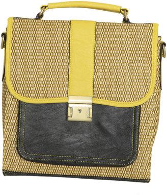 Arden B Colorblock Straw Bag