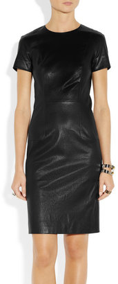 The Row Wonlo paneled stretch-leather dress
