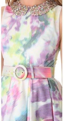 Alice + Olivia Floral Dress with Embellished Collar