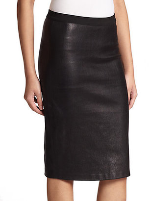 Helmut Lang Leather Pencil Skirt