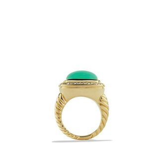 David Yurman Albion Ring with Chrysoprase and Diamonds