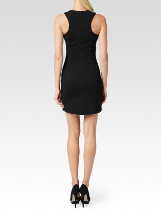 Paige Scarlet Dress / Midnight Black Leather