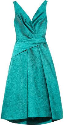 Lela Rose Brocade wrap-effect dress