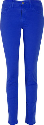 J Brand Denim 811 mid-rise twill cropped skinny jeans