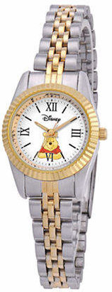 Disney Status Womens Winnie the Pooh Two-Tone Metal Bracelet Watch Family