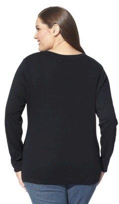 Merona Women's Plus-Size Long-Sleeve Basic Tee - Assorted Colors
