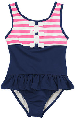 Gymboree Stripes & Bows One-Piece Swimsuit