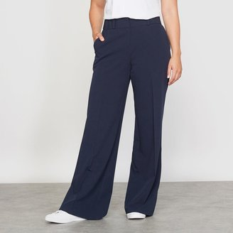 Wide Leg City Trousers, Length 32""