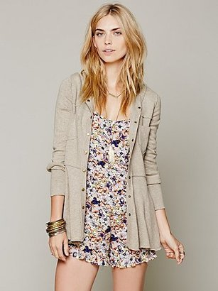 Free People Hooded Scuba Jacket