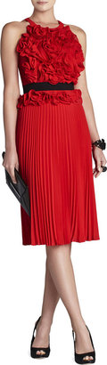 BCBGMAXAZRIA Safina Floral Sunburst-Pleat Dress