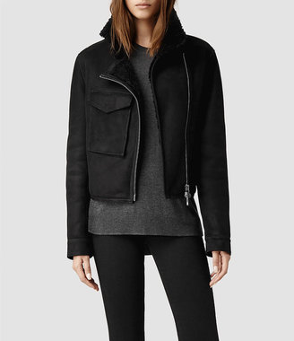AllSaints Malver Sheepskin Leather Jacket
