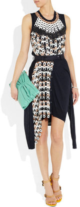 J.W.Anderson Leather chain-mail fine-knit cardigan skirt