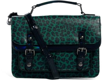 Asos Satchel In Hologram And Animal - Multi