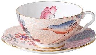 "Wedgwood Cuckoo"" Tea Story Tea Cup & Saucer, Peach"