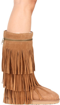Koolaburra Serenity Fringe Boot in Chestnut -