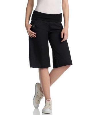 Jolt Foldover-Waist Bermuda Shorts