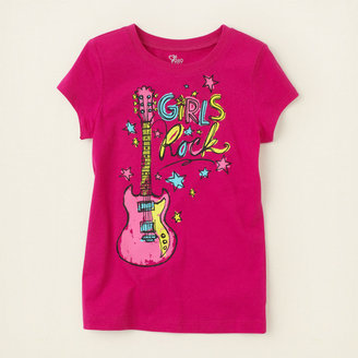 Children's Place Girls rock graphic tee
