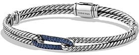 David Yurman Petite Pave Labyrinth Mini Loop Bracelet with Blue Sapphires