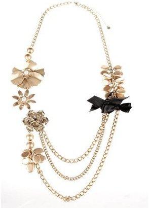 Bebe Draped Flower Necklace