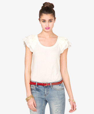 Forever 21 Ruffled Knit Top